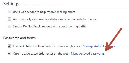 view Chrome's passwords