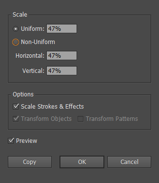 Illustrator Scale Strokes and Effects