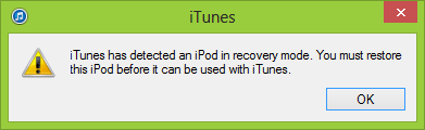 iTunes iOS DFU mode