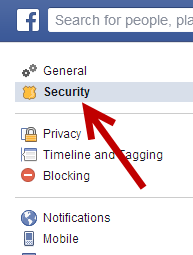 Facebook account security settings