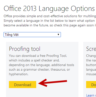 download new proofing tool for Word