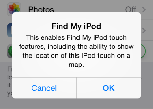 turn on find my iPhone