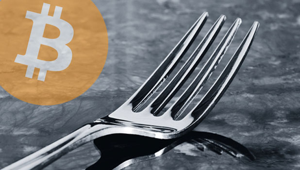 cryptocurrency fork logo