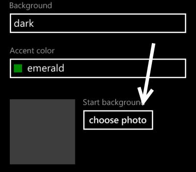set photo as start screen background in windows phone 8