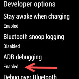 enabling adb debugging android wear