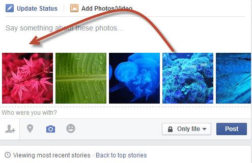 rearrange Facebook photos