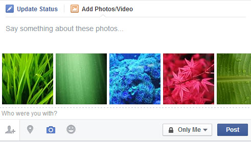reorder Facebook photos