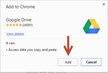 Add Google Drive to Chrome