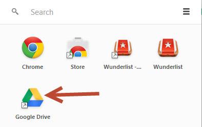 Access Google Chrome app