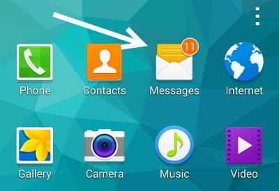Samsung S5 Messages app