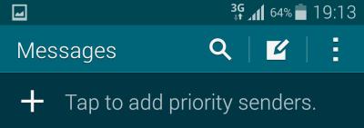 Galaxy S5 priority senders