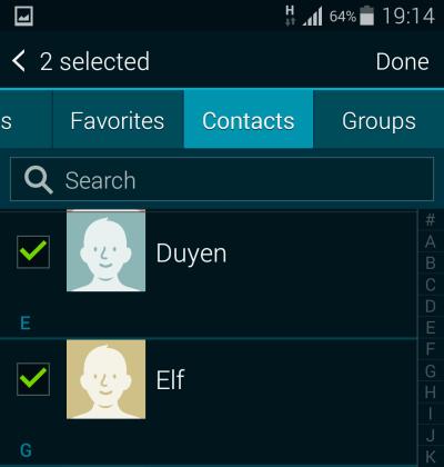 Add senders to priority list