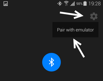 pair with emulator android wear