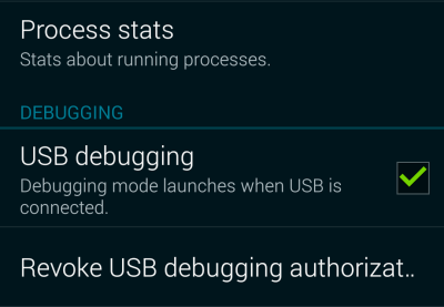 android enable usb debugging