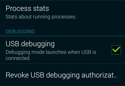 android enable usb debugging