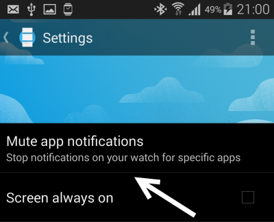 android wear disable app notifications