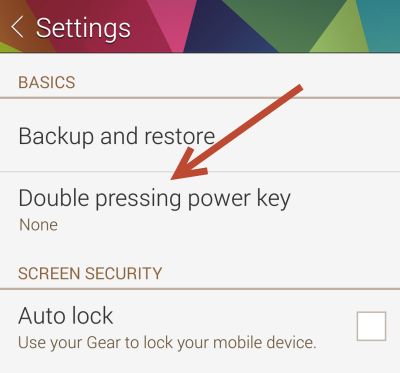 Samsung Gear Manager Double Pressing Key