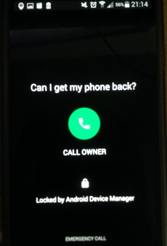 locked Android phone