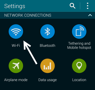 Galaxy S5 WiFi Settings