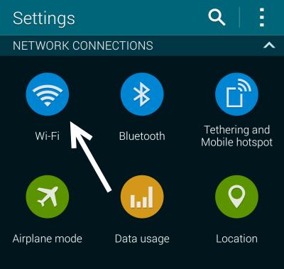 Galaxy S5 WiFi Settings