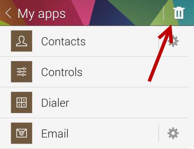 uninstall Gear 2 apps