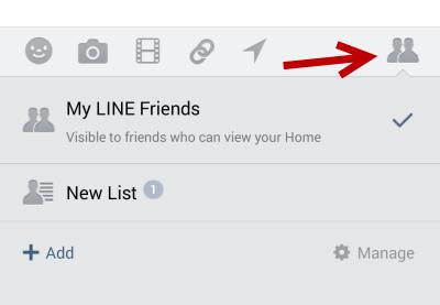 Line timeline post filter