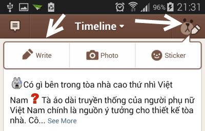 create a Line timeline post