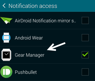 android notification access settings