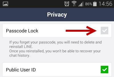 Line password lock