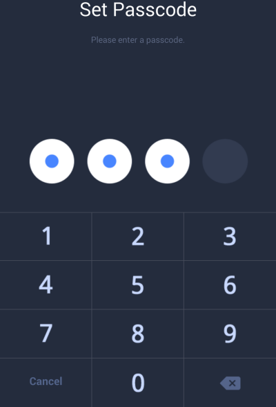 Line setting up password