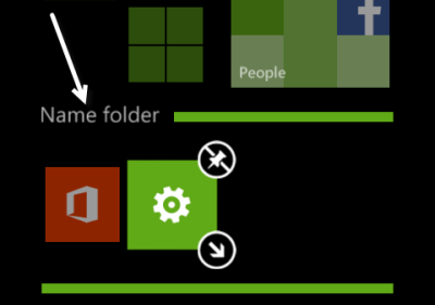 windows phone 8 edit folder