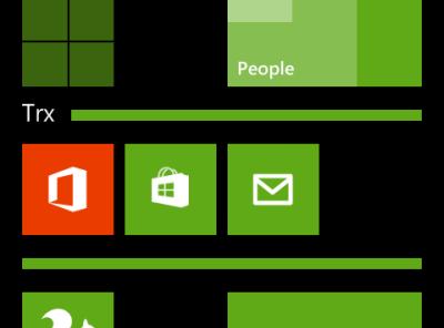 windows phone 8 folder