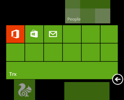 resize windows phone 8 folder