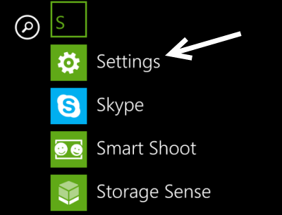 windows phone settings