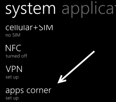 windows phone apps corner