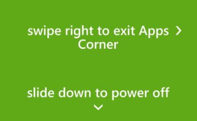 windows phone exit apps corner mode