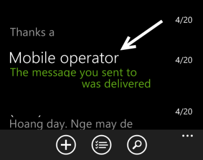 windows phone message thread