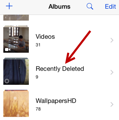 iPhone recover deleted photos