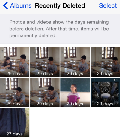 recover recently deleted iPhone photos