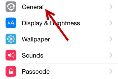 iOS General Settings