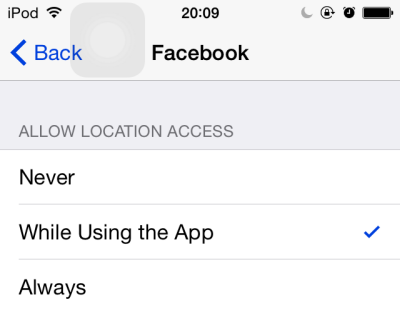 iOS app location service