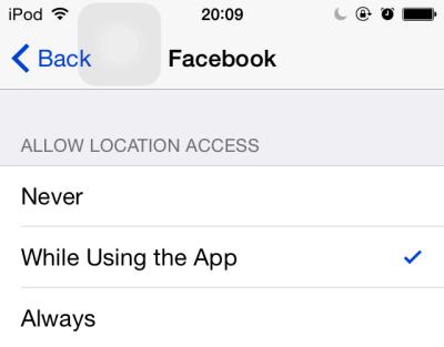 iOS app location service