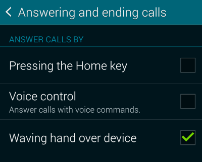 answer call with voice command