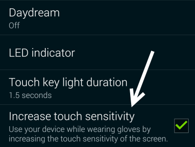 Android increase touch sensitivity
