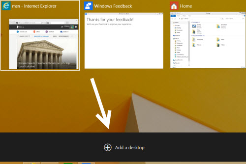 Windows 10 Create new desktop view