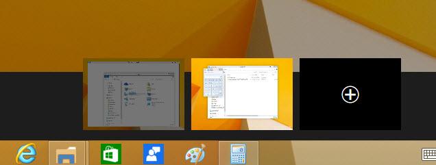 Windows 10 switch between desktops