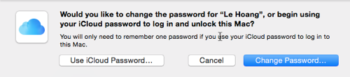 OS X change password