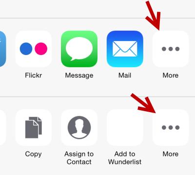 iOS edit share list