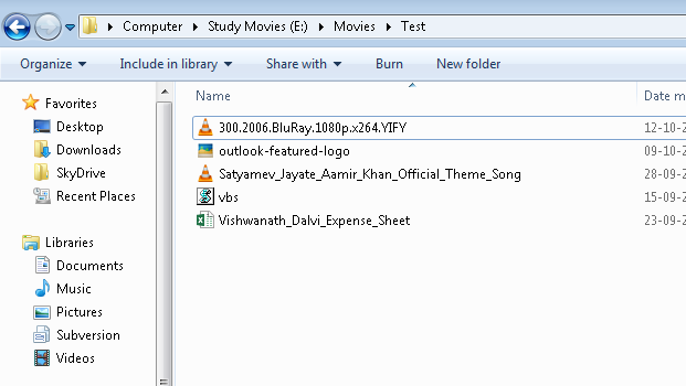 File Names without Extension