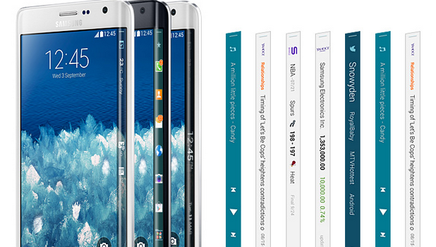 Galaxy Note Edge and the Edge panels